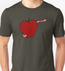 Worming the Apple Core  | Worm Apple Print T-Shirt