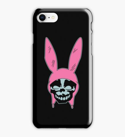 Grey Rabbit/Pink Ears iPhone Case/Skin