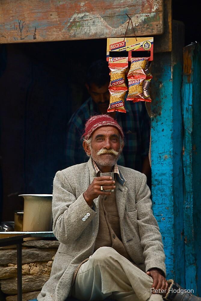 Enjoying a cuppa by Peter Hodgson