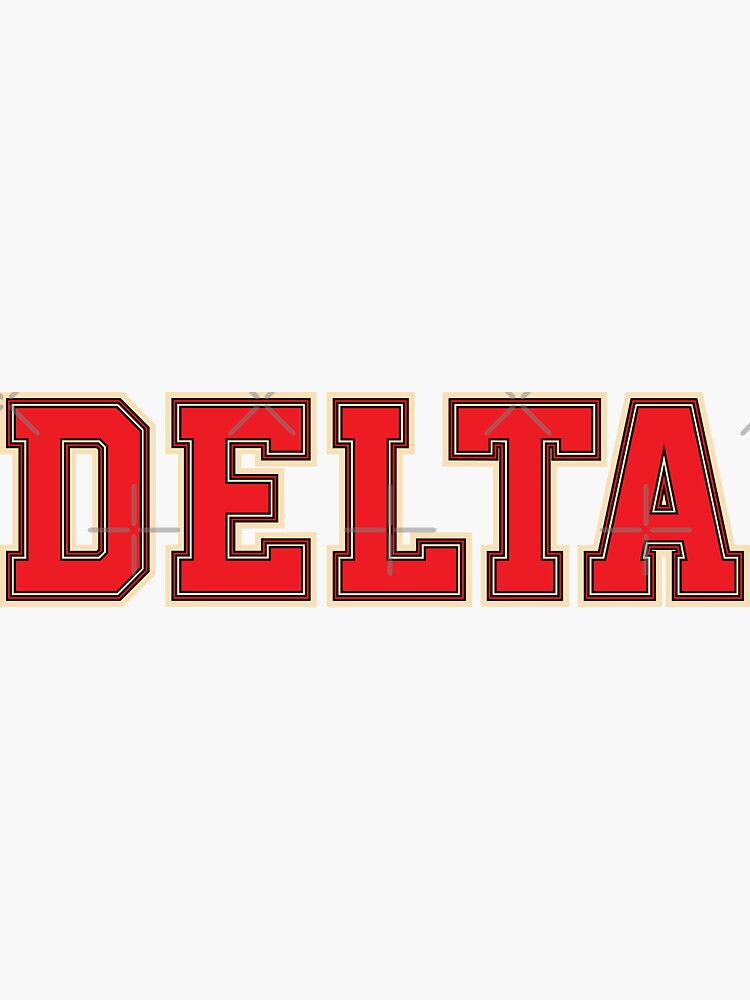 Delta Jersey Theta Schriftart von vma77