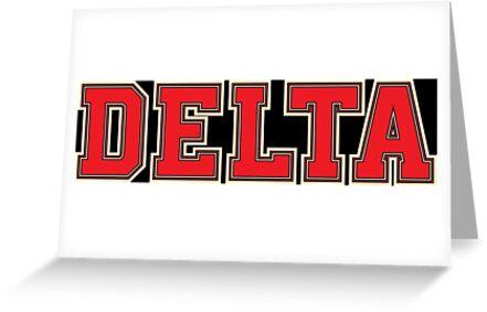 Delta DST Jersey Font Hat