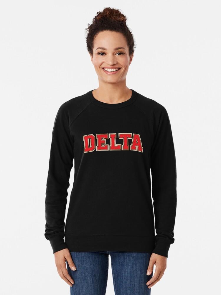 Alternative Ansicht von Delta Jersey Theta Schriftart Leichter Pullover