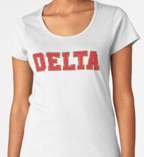 Delta Jersey Theta Font Women's Premium T-Shirt
