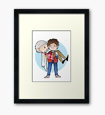 Doc and Marty -  Back to the future Framed Print