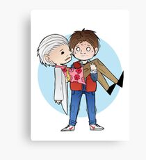 Doc and Marty -  Back to the future Canvas Print