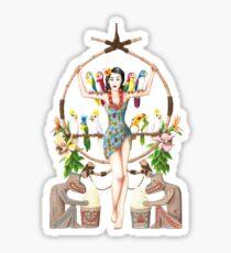 Enchanted Tiki Room Pinup Sticker