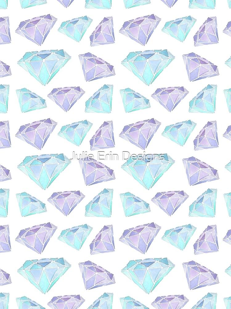 Pastel Diamonds Pattern by julieerindesign