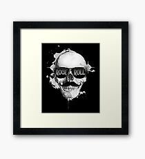 Skull Rock and Roll Framed Print