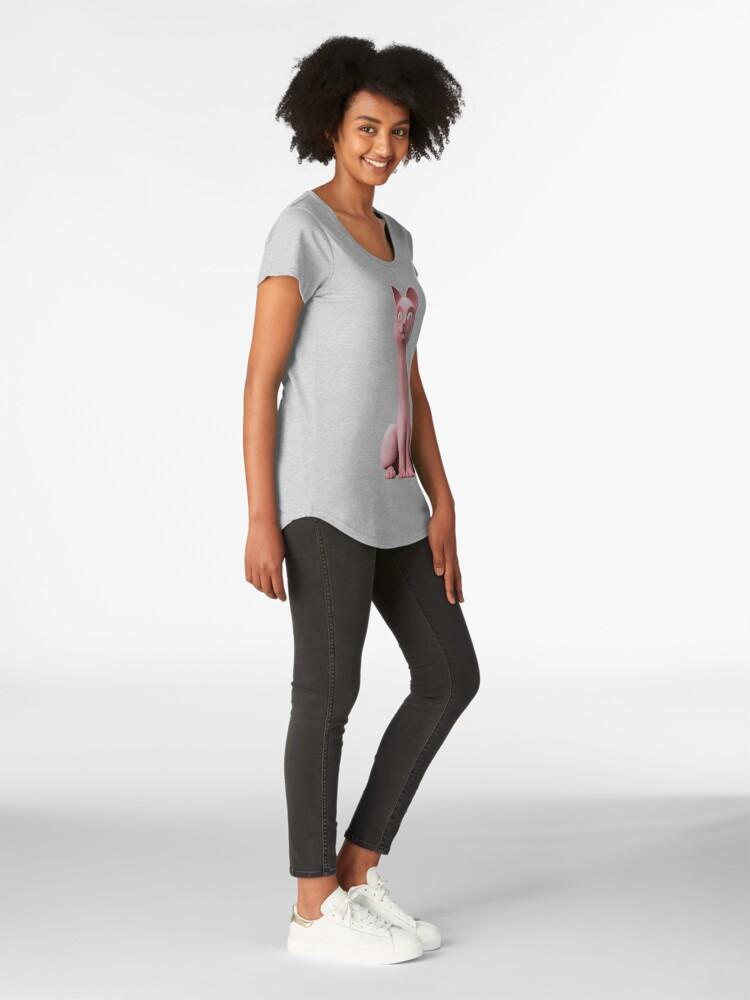 Alternate view of The Long-Nekid Sphinx Premium Scoop T-Shirt