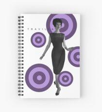 Claudine Purple Dot Spiral Notebook