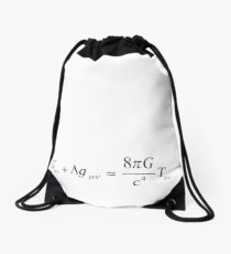 Einstein field equation Drawstring Bag