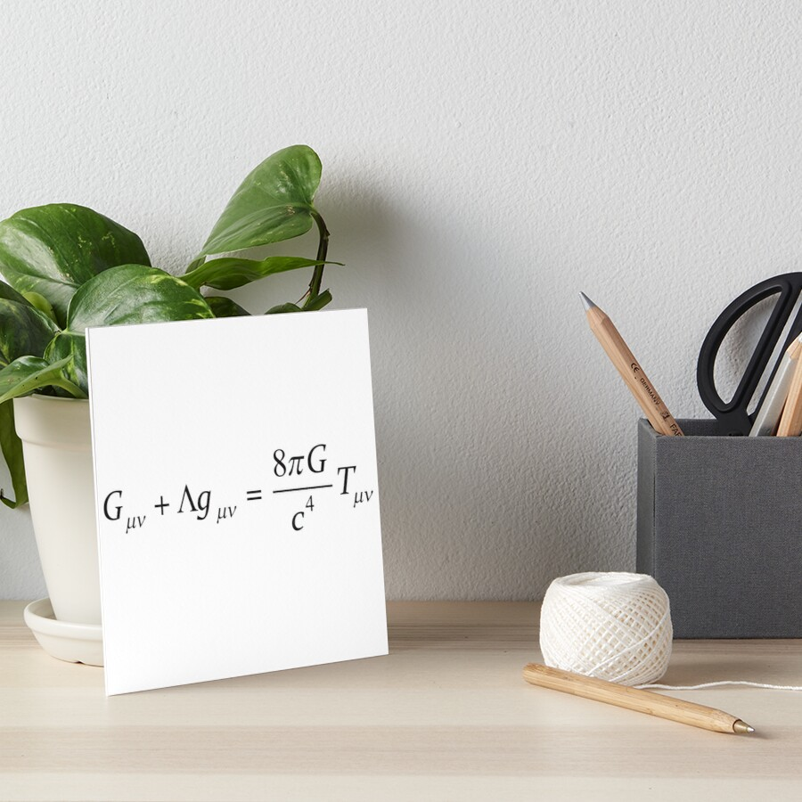 Einstein field equation Art Board Print