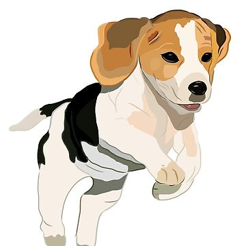 Beagle Puppy Design by MyBloomingBook