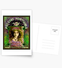 PSYCHIC FORTUNES : Vintage Fortune Telling Advertising Print Postcards
