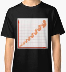 Human Fetus Growth Chart Isolated on White Background Classic T-Shirt
