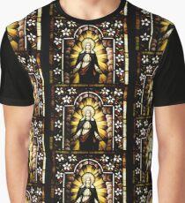 Blessed Virgin Mary with Halo of Stars Graphic T-Shirt