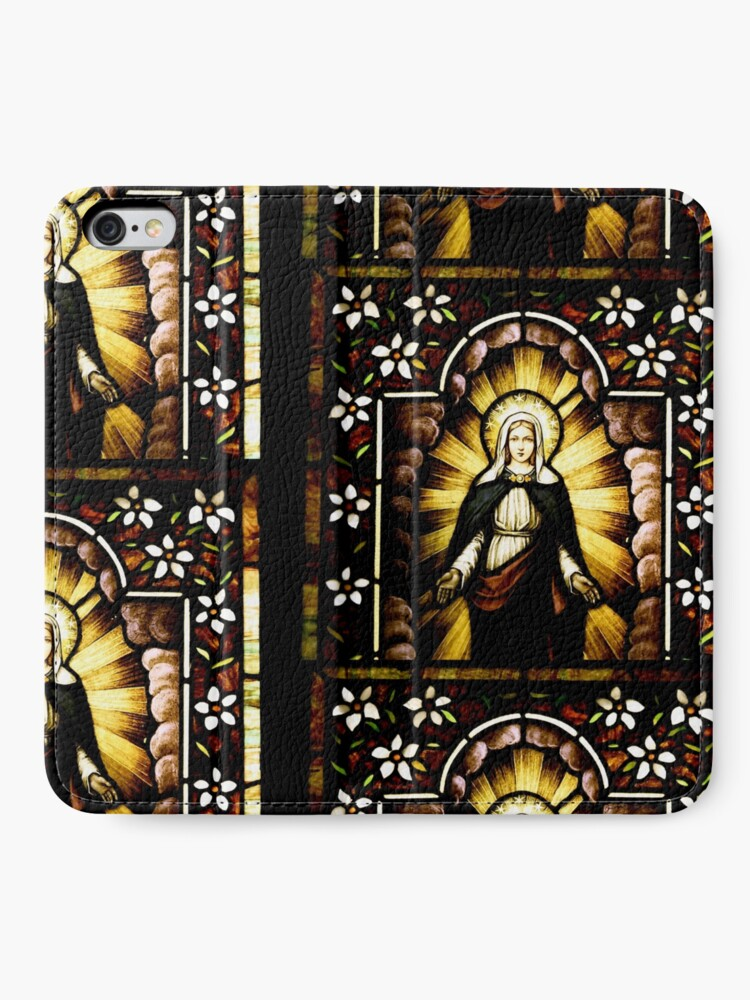 Alternate view of Blessed Virgin Mary with Halo of Stars iPhone Wallet