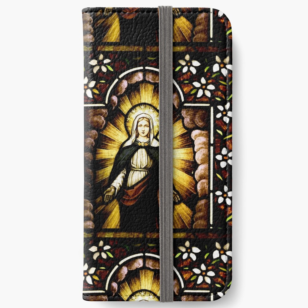 Blessed Virgin Mary with Halo of Stars iPhone Wallet