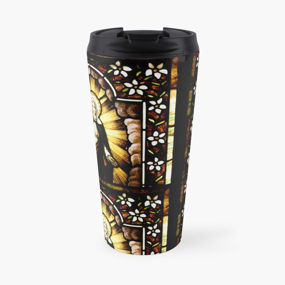 Blessed Virgin Mary with Halo of Stars Travel Mug