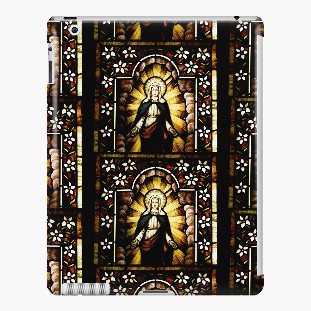 Blessed Virgin Mary with Halo of Stars iPad Case & Skin