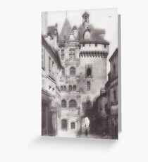 Hotel de ville loches Greeting Card