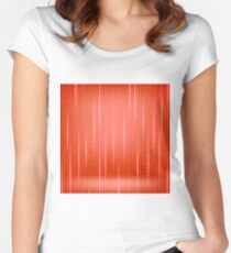 Binary Code Red Background. Concept Binary Code Numbers. Algorithm Binary, Data Code, Decryption and Encoding. Women's Fitted Scoop T-Shirt