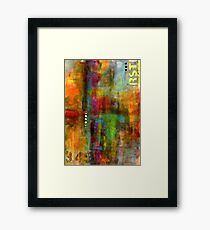 Urban Abstract Color 1 Framed Print