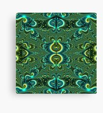 The cross curls crimson and blue Canvas Print