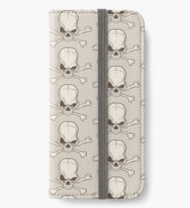 Skull and bones drawing iPhone Wallet/Case/Skin