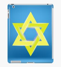Yellow Star of David Isolated on Blue Background iPad Case/Skin