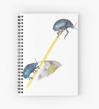 Balancing Beetles Spiral Notebook