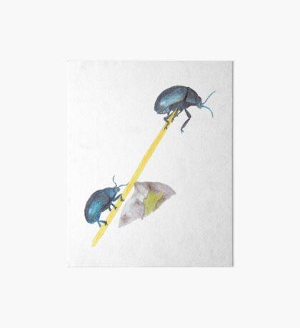 Balancing Beetles Art Board Print