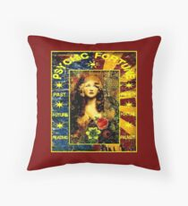 PSYCHIC FORTUNE: Vintage Gypsy Readings Advertising Print Throw Pillow