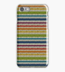 Knitted Pattern Set 13 - Stripes Rainbow 2 iPhone Case/Skin