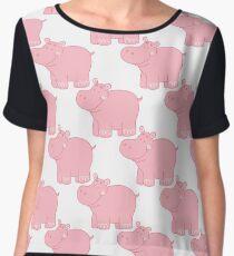 Pink Hippo Women's Chiffon Top
