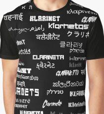 Clarinanguages Black Graphic T-Shirt