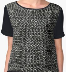 Chainmail Medieval Armor Art Women's Chiffon Top