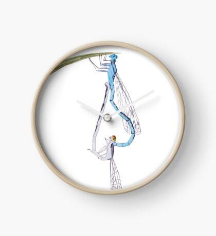Dragonflies in Love Clock