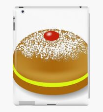 Red Jelly Donuts for Hanukkah Isolated on White Background iPad Case/Skin