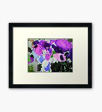 abstract purple alien invasion 09/12/17 Framed Print