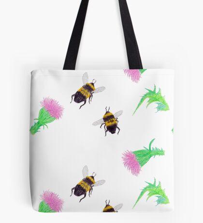 Bumblebees and Thistles Tote Bag