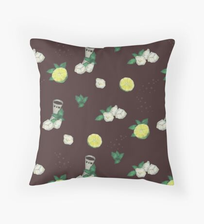 cuba libre _ recipe pattern Throw Pillow