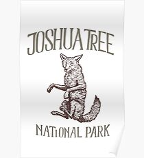 Joshua Tree National Park: Falling Coyote Poster
