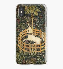 UNICORN AND GOTHIC FANTASY FLOWERS,FLORAL MOTIFS iPhone Case