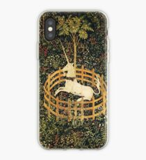 EINHORN UND GOTISCHE FANTASIE-BLUMEN, BLUMENMOTIVE iPhone-Hülle & Cover
