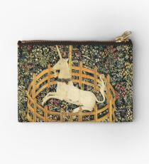 UNICORN AND GOTHIC FANTASY FLOWERS,FLORAL MOTIFS Studio Pouch