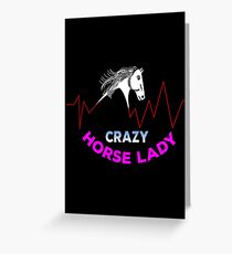 Horse Lady Greeting Card