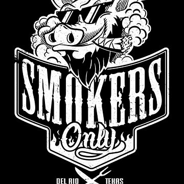 Smokers Only BBQ (White) by Gingerbredmanny