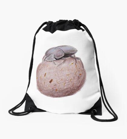 Dung Beetle Drawstring Bag