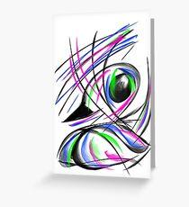 Rainbow duck. Greeting Card